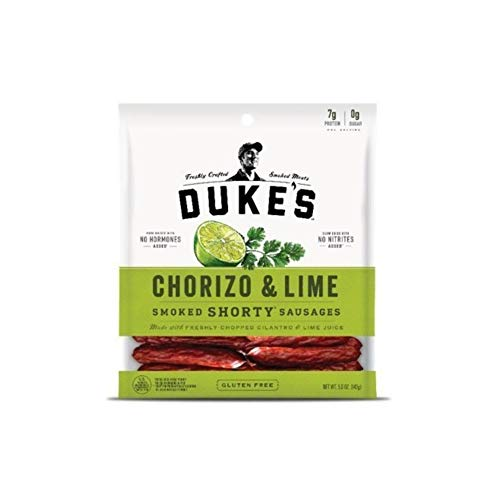DUKES Chorizo & Lime Shorty Smoked Sausages, 5.0-ounce Bags Pa...