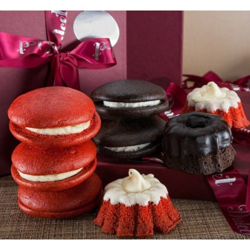 Chocolate Mini Bundt and Red Velvet Whoopie Pie with Butter Crea...