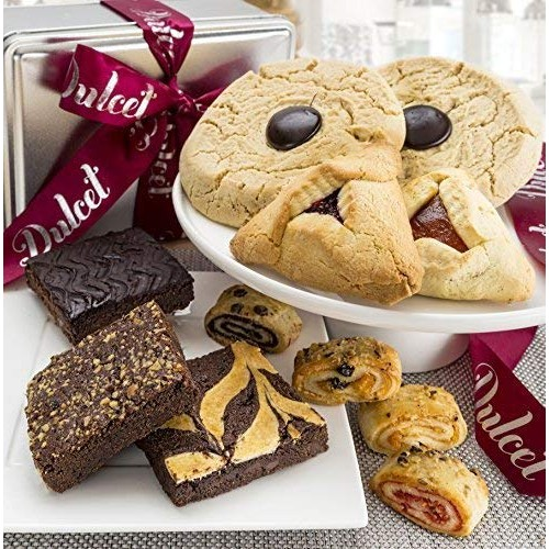 Dulcet Gift Baskets Cookie and Brownie Tin - Delicious, Fresh Ba...