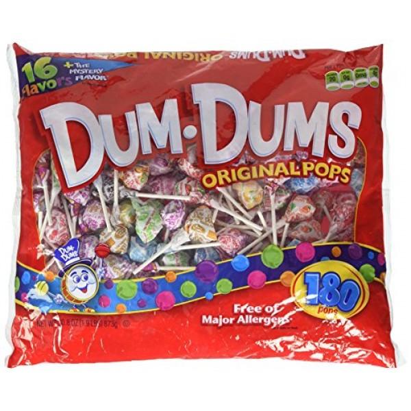 Dum Dum Pops 180 ct bag - assorted flavors