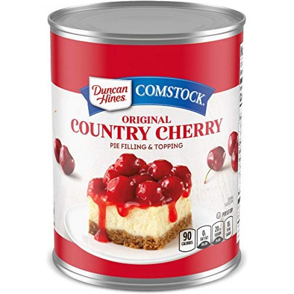 Duncan Hines Comstock Original Pie Filling, Cherry, 21 Ounce Pa...