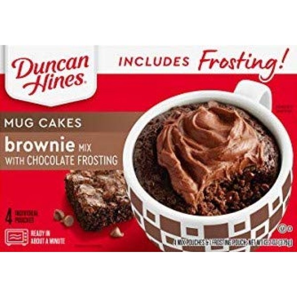 Duncan Hines Mug Cakes Brownie Mix with Chocolate Frosting, 13.2...