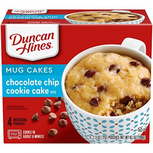 Duncan Hines Mug Cakes Chocolate Chip Cookie Cake Mix 4 Count o...