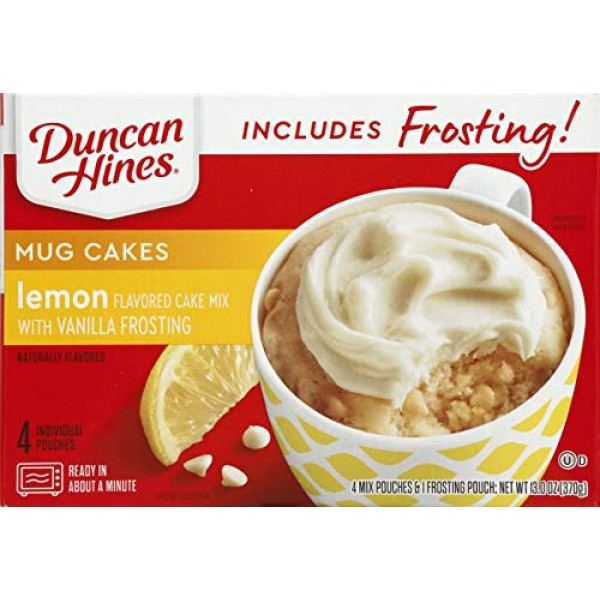 Duncan Hines Mug Cakes Lemon Flavored Cake Mix with Vanilla Fros...