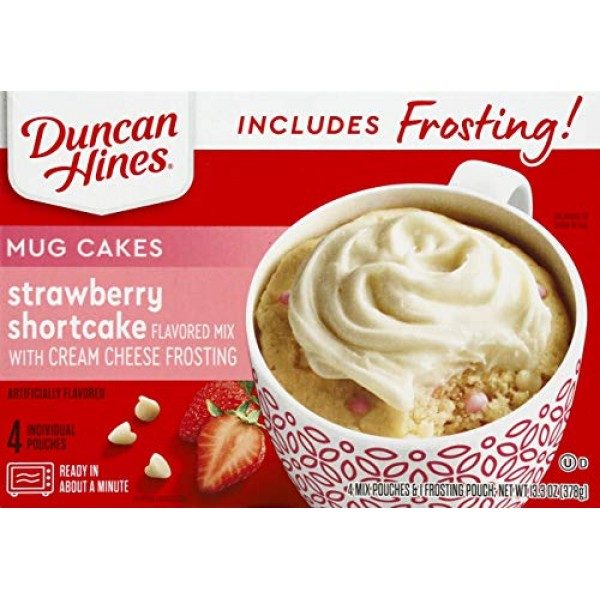 Duncan Hines Mug Cakes Strawberry Shortcake Flavored Mix with Cr...
