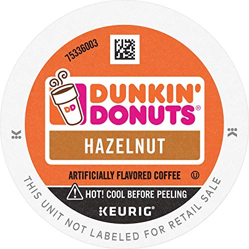 Dunkin Donuts Hazelnut Flavored Coffee, 88 K Cups for Keurig Co...