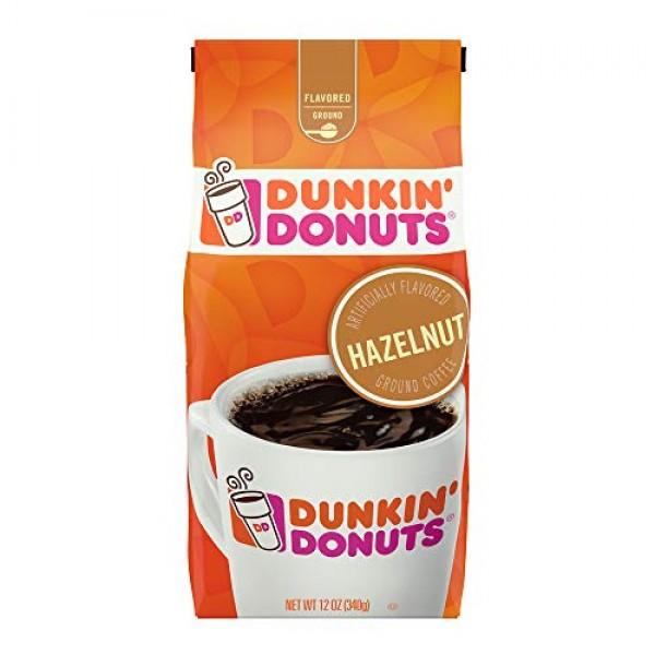 Dunkin Hazelnut Flavored Ground Coffee, 12 Ounces Packaging Ma...