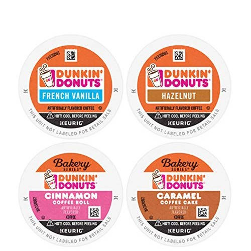 Dunkin Mixed Flavor Coffee Variety Pack, 60 K Cups for Keurig C...