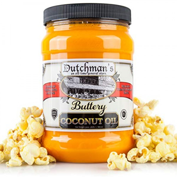 Dutchman's Popcorn Coconut Oil Butter Flavored Oil, Colored with...