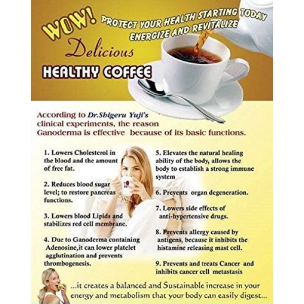 3 Packs DXN Vita Cafe 6 in 1 Healthy Ganoderma Coffee with Ginse...