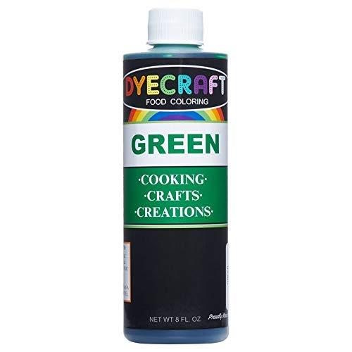Green Food Coloring Large 8 oz Bottle Odorless, Tasteless, Edi...