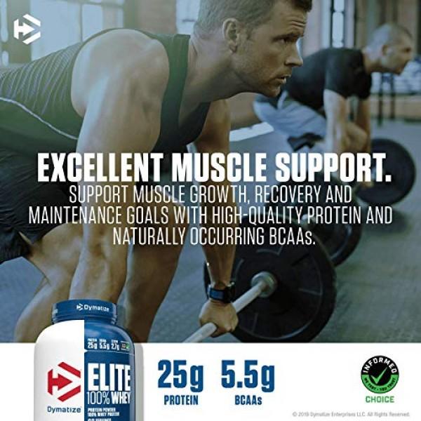 Dymatize Elite 100% Whey Protein Powder, Take Pre Workout or Pos...
