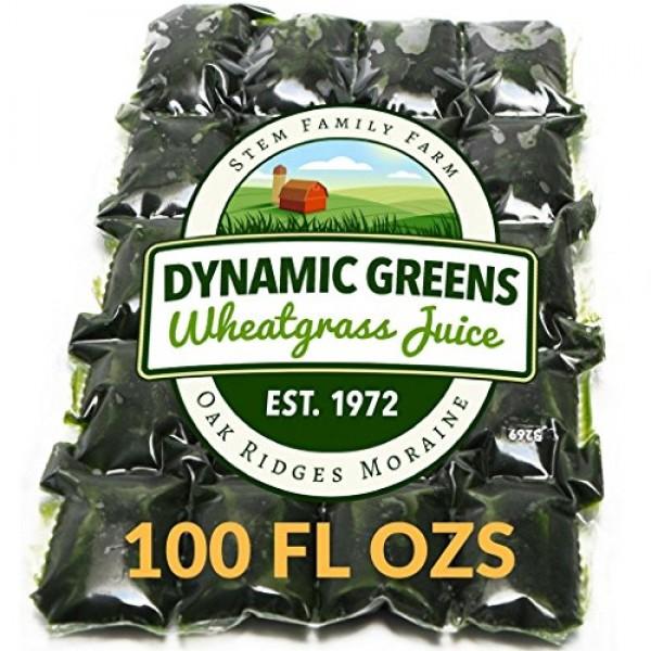 Dynamic Greens Wheatgrass Juice - 100 Fl Ozs - Just $1.89 Per Oz...