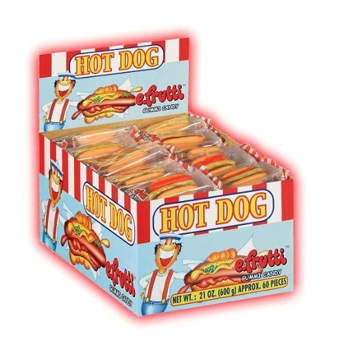 e.frutti Hot Dog (0.31-Ounce each), 60-Count Boxes (Pack of 6)