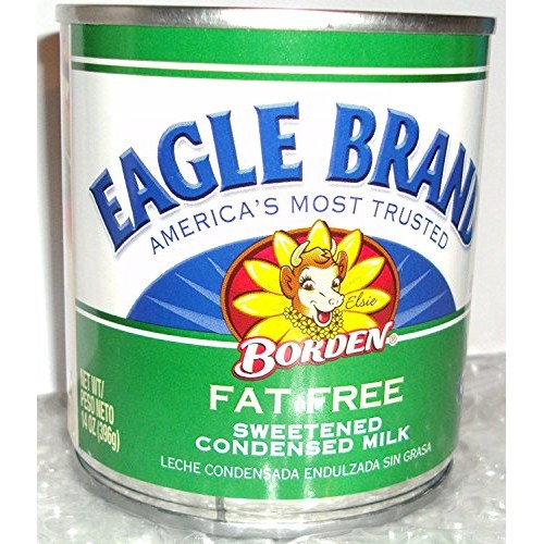 Borden, Eagle Brand, Condensed Milk, Fat Free, 14oz Can Pack of 4