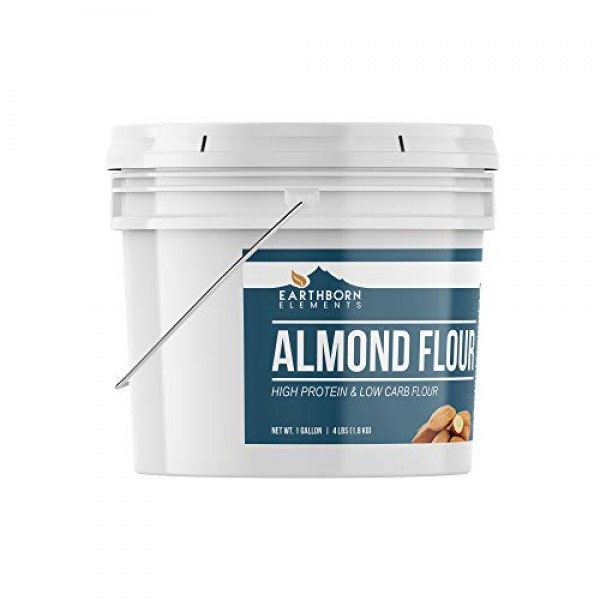 Almond Flour, 1 Gallon Bucket 4 LBS by Earthborn Elements, Add...