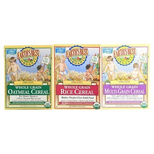 Earths Best Organic Whole Grain Rice, Whole Grain Oatmeal & Mul...