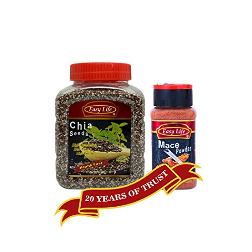 Easy Life Combo Pack Of Chia Seed 350G And Mace Powder 90G