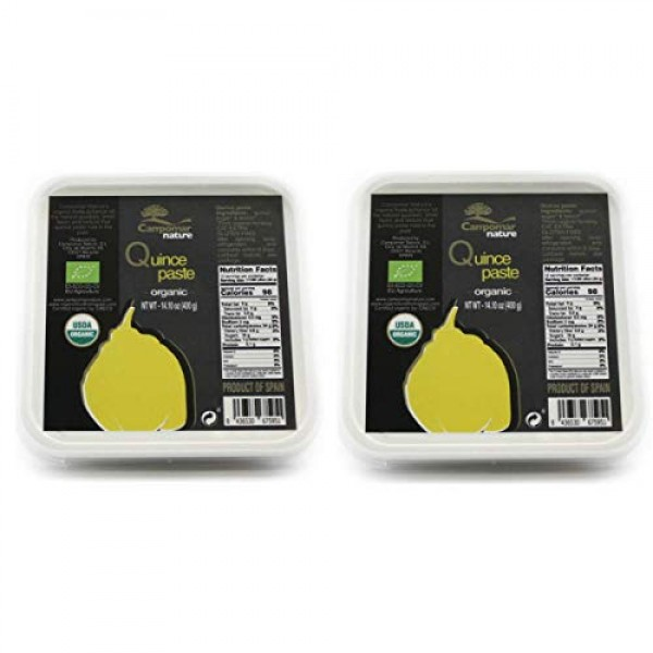 Two Pack SPANISH ORGANIC QUINCE PASTE 14.1oz   Just Three Ingred...