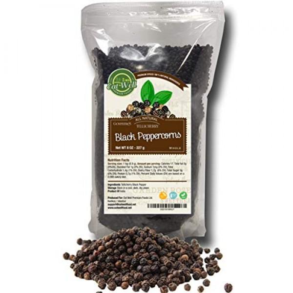Black Peppercorns Whole | 8 oz Reseable Bag , Bulk | Premium Gra...