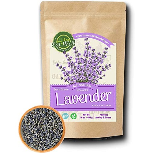 Lavender Flowers | 4 oz Reseable Bag,Bulk | Dried Culinary Laven...