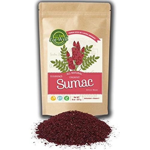 Sumac Spice Powder   8 oz Reseable Bag   Bulk Ground Turkish Sum...
