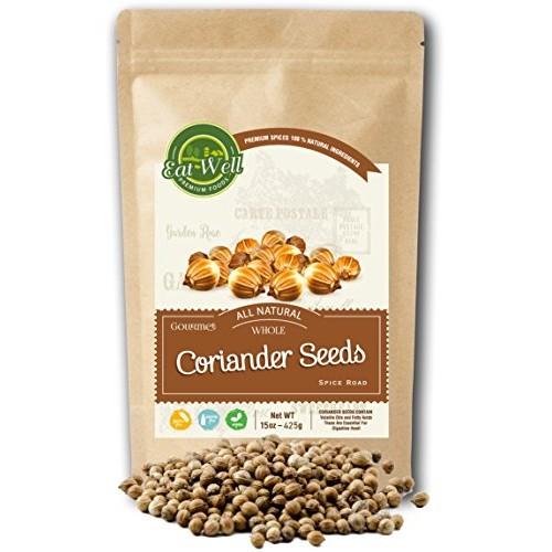 Coriander Seeds Whole   15 oz - 425 g Reseable Bag   100% Natura...