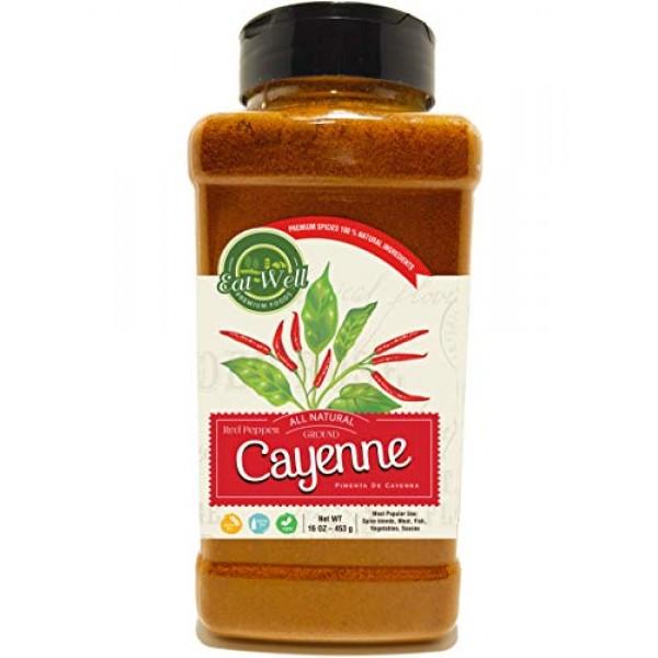 Ground Cayenne Pepper Powder | 35.000 Heat Units | 16oz / 1 Poun...