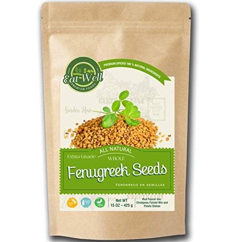 Fenugreek Seeds | 15oz - 425 g - Reseable Bag -Bulk | Whole Fenu...