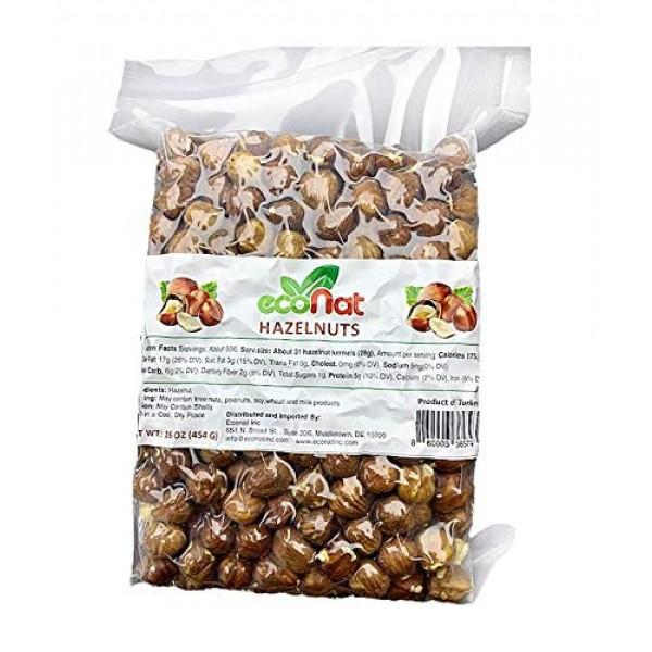 Econat Raw Hazelnuts, 16 oz