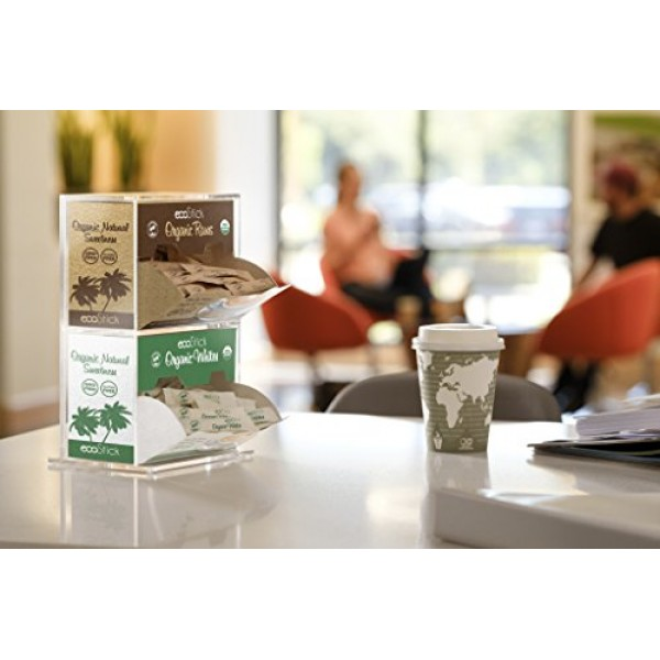 ecoStick Sweetener Packets, Organic White, 2000 Count