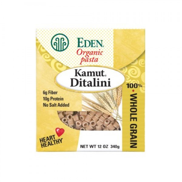 Eden Organic Kamut Ditalini, 100% Whole Grain, 12-Ounce Boxes P...
