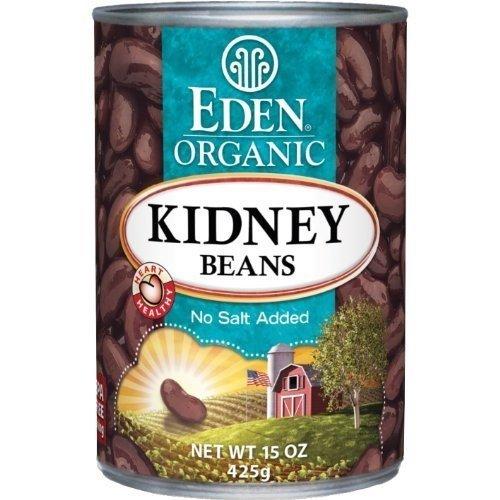 Eden Organic Kidney Beans, No Salt Added, 15-Ounce Cans Pack of...