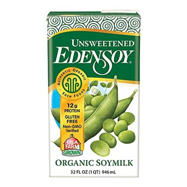Eden Foods Organic Unsweetened Edensoy 12x32 OZ