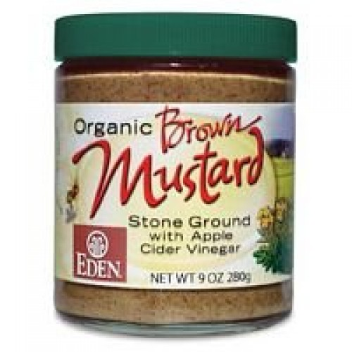 Eden Foods Organic Brown Mustard - Glass, 9 Ounce -- 12 per case.