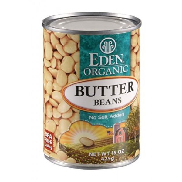 Eden Foods Organic Butter Lima Beans 12x15 OZ