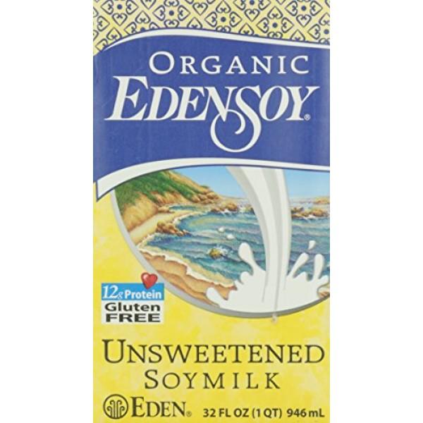 Eden Foods Organic Edensoy Unsweetened Soymilk, 32 oz