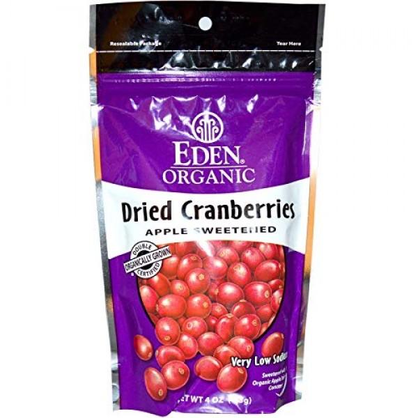Eden Foods Organic Dried Cranberries Sweetened with Apple Juice ...