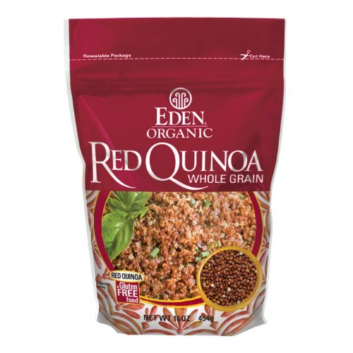 Eden Organic Red Quinoa, Whole Grain, 16-Ounce Pouches Pack of 4