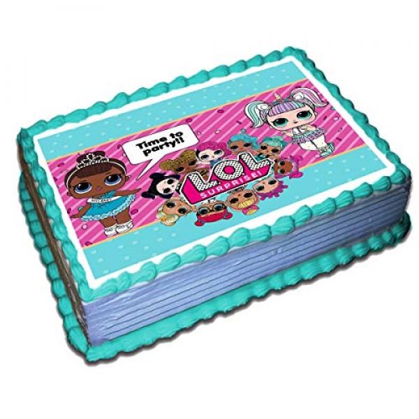 Surprise Dolls Cake Topper Icing Sugar Paper 8.5 x 11.5 1/4 Inch...