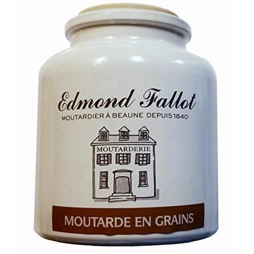 Edmond Fallot Whole Grain Mustard Crock 2 Pack, Moutarde en Grai...
