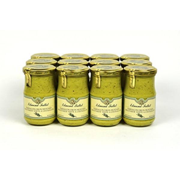 Edmond Fallot Tarragon Dijon Mustard 7.4Oz Case of 12 Units - Wh...