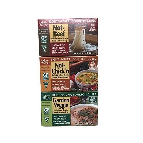 Not-Beef + Not-Chickn + Garden Veggie Edward & Sons Bouillon Cu...