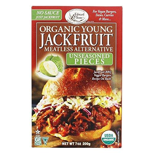 Edward & Sons, Jackfruit Young Unseasoned Pieces Organic, 7 Ounce