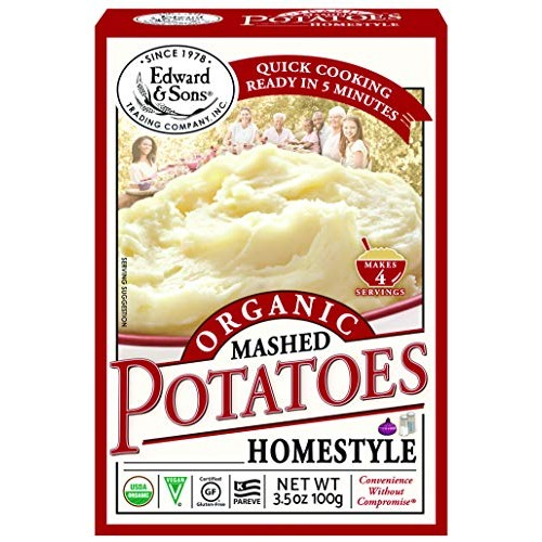Edward & Sons Organic Mashed Potatoes Home Style, 3.5 Ounce Boxe...