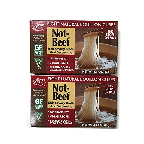 Not-Beef Edward & Sons Bouillon Cubes Set of 2