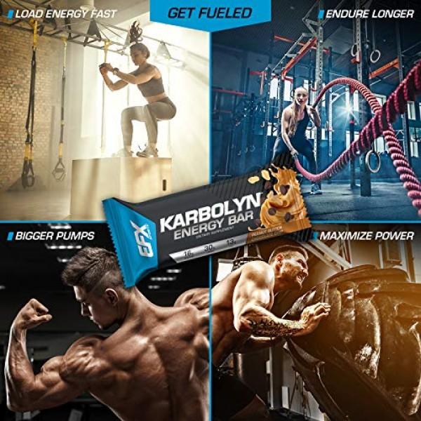 EFX Sports Karbolyn Energy Bar | Perfect Pre Or Post Workout Mea...