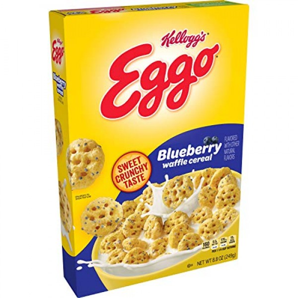 Kelloggs Eggo, Breakfast Cereal, Blueberry Waffle, Good Source ...