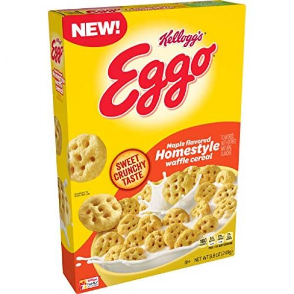 Kelloggs Eggo, Breakfast Cereal, Maple Flavored Homestyle Waffl...