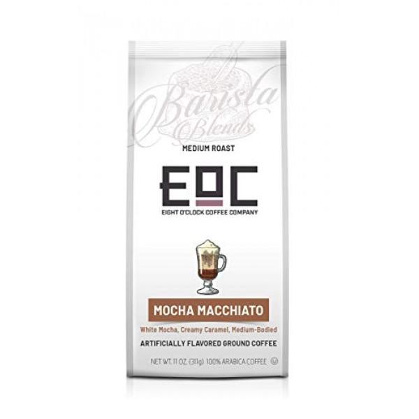 Eight OClock Coffee Barista Blends Ground Coffee, Mocha Macchia...
